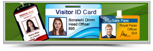 Visitors Gate Pass ID Cards Maker Software